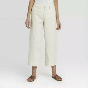 A New Day Women's High-Rise Wide Leg Cropped Pants